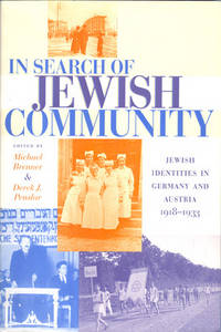 In Search of Jewish Community. Jewish Identities in Germany and Australia, 1918-1933.