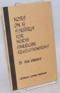Notes on a strategy for North America revolutionaries
