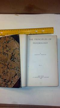 The Principles of Psychology, Volume I