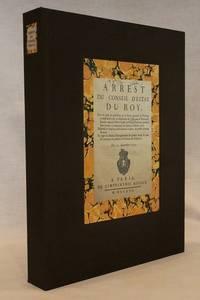 Arrest du Conseil d'Estat du Roy, pour la Prise de Possession de la Ferme Generale du Privilege Exclusif de la Vente & Distribution du Tabac dans le Royaume, fous les noms de Pierre Carlier & Nicolas Desboves, pendant huit annees, a commencer du premier Octobre 1730