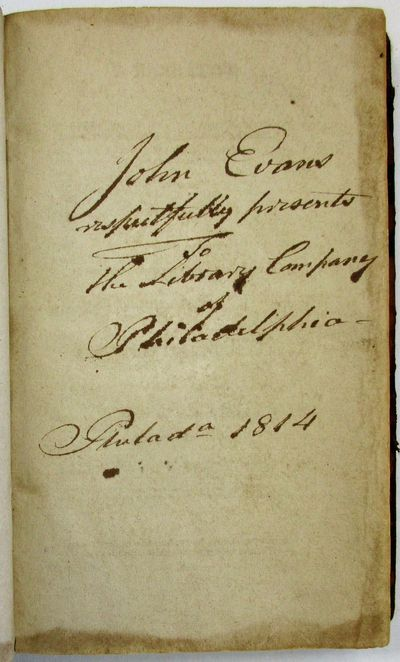 . Sold by Thomas Dobson, 1811. vii, 238pp. Original calf . Presentation by author on front flyleaf, ...