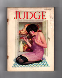 "image of Judge Magazine - November 24, 1923  / The World's Wittiest Weekly. Enoch Bolles Cover; Ralph Barton; Clive Weed; Charles Baskerville; James Montgomery Flagg; Gilbert Wilkinson; Angus MacDonnall; Art Deco. ""Thanksgiving"" Number."