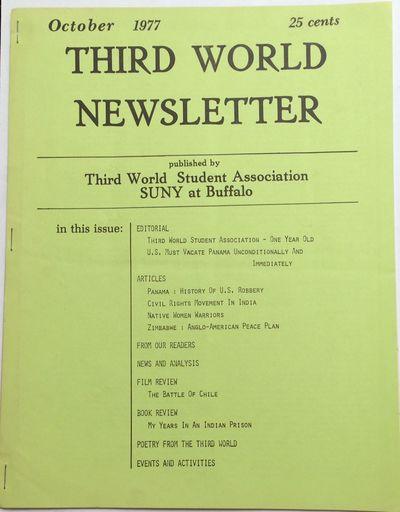 Buffalo, NY: Third World Student Association, SUNY, 1977. 18p., 8.5x11 inch sheets stapled at left, ...