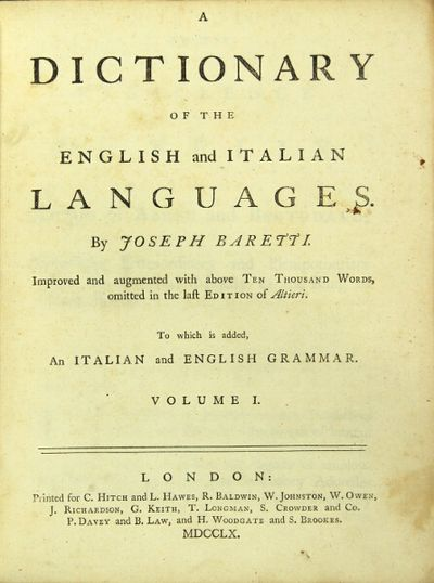 London: C. Hitch and L. Hawes , 1760. First edition, 2 volumes, 4to; 1 A6 a-d4 e1 B-4T4 4U2; 1 a-e4 ...