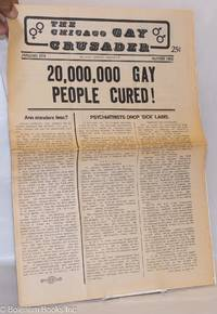 image of Chicago Gay Crusader: the total community newspaper; #9, January 1974: 20,000,000 Gay People Cured!