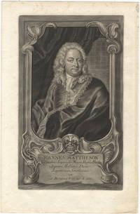 Fine mezzotint portrait engraving by Johann Jakob Haid (1704-1767) after the painting by Johann Solomon Wahl (1689-1763)