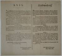 Napoleonic Wars Military Broadside by  The Governor-General ANDREOSSY - 1809 - from Argosy Book Store and Biblio.com