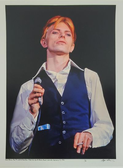Denver, 1976. Limited edition (1 of 6). Description: David Bowie taken during the Thin White Duke to...