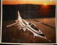 1984 Photographic Record of A Visit to Grumman Aerospace Corporation Calverton, Long Island N.Y. By Lawyer, Politician & USAF Veteran Stanley Fink & Assemblyman Paul E. Harenberg Examining the Experimental X-29 Jet