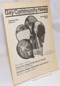 image of GCN: Gay Community News; the weekly for lesbians and gay males; vol. 8, #49, July 4, 1981; Lesbian & Gay Pride '81