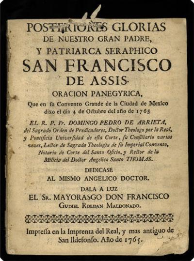 : Impressa en la Imprenta del real, y mas antiguo de San Ildefonso, 1765. 4to (19 cm, 7.75