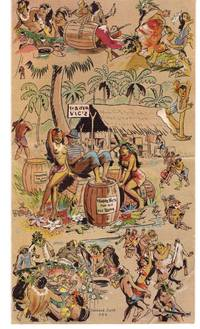 1947 Trader Vic folding mailer and drink menu, with history; Oakland, California