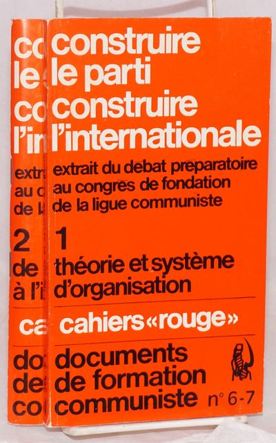 Paris: François Maspero, 1969. Two double issues from the Trotskyist series; 137 and 114 pages resp...