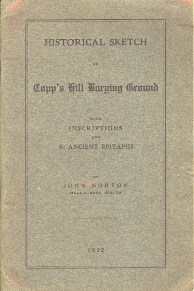 Boston: Self published, 1912. First Edition. Wraps. Very good. Wraps. 32 pages with 6 photographs in...