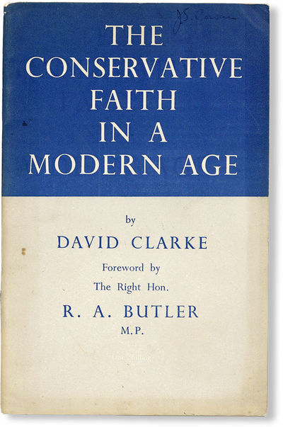 Lawrence: Conservative Political Centre, 1948. Pamphlet. Third impression. Octavo. Staple-bound pamp...