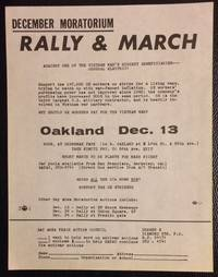 image of December moratorium: Rally_March against one of the Vietnam War's biggest beneficiaries - General Electric [handbill]