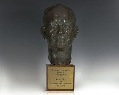 The Eisenhower Leadership Prize presented to the 69th United States Secretary of the Treasury, Lloyd...
