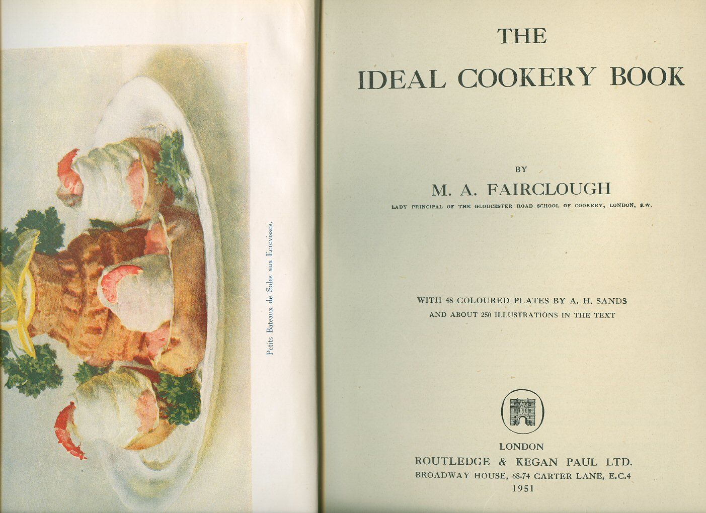 The ideal cookery book by m a colour plates by a h for Auguste escoffier ma cuisine book