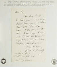 "Autograph Letter, signed (""Sarah O. Jewett""), to Reverend E.F. Strickland"