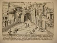 Curia Hostilia (Senate House of Hostilius, Curia Julia, Rome/Curia Iulia, Roma): Original Engraving by Domenico De Rossi (after Giacomo Lauro). Plate 11 from Collectio Antiquitatum Urbis : Una Cum Alijs Recentioribus