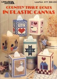 Country Tissue Boxes in Plastic Canvas