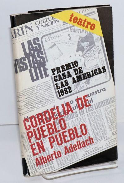 Havana: Premio Casa de las Americas, 1982. 109p., 5x7.5 inches, text in Spanish, very good playscrip...
