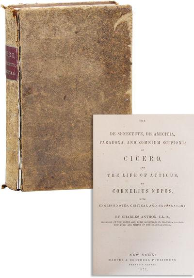 New York: Harper & Brothers, 1871. Reprint. Hardcover. Octavo (19cm.); publisher's sheep, maroon mor...