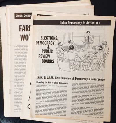 New York: Union Democracy in Action, 1961. Twelve issues of the rank and file reform newsletter; 4 t...
