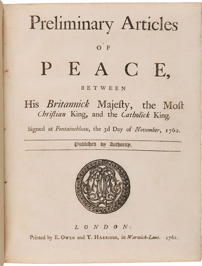 London: Printed by E. Owen and T. Harrison, 1762. 23pp. printed in double-column format in parallel ...