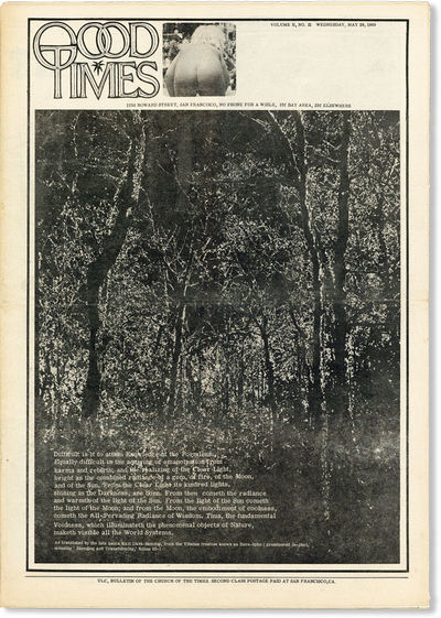 San Francisco: The Trystero Company, 1969. First Edition. Paperback. Attractive copy of this weekly ...