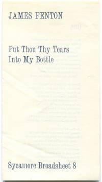 Put Thou Thy Tears Into My Bottle