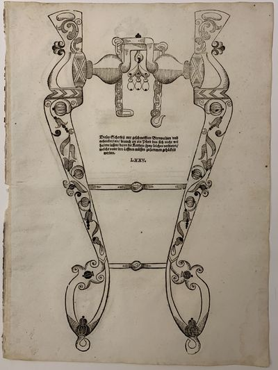 Coburg: Caspar Bertschen, 1615. Woodcut, 16 3/8 x 12 inches. Plate LXXV, from the very rare book on ...