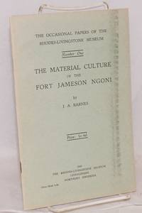 image of The Material Culture of the Fort Jameson Ngoni