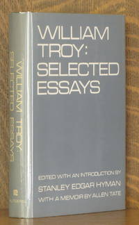 image of WILLIAM TROY: SELECTED ESSAYS