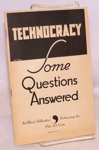 image of Technocracy, some questions answered