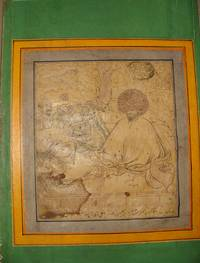 Drawing of a seated Dervish with his followers seating in front of him and playing music, signed by Reza-i Abbasi