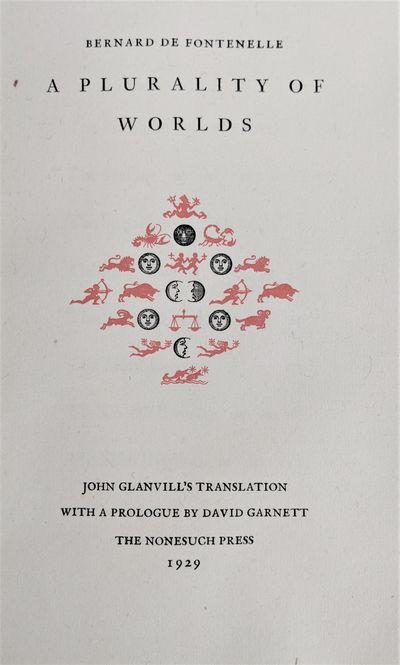 London:: Nonesuch Press, 1929., 1929. 8vo. ix, , 138, pp. Title vignette in red and black, decorativ...