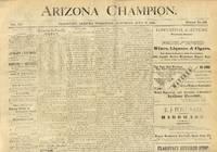 Arizona Champion Newspaper July 17, 1886
