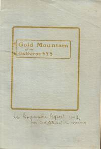 Consolidated Gold Mountain Mining Company Prospectus - Used Books