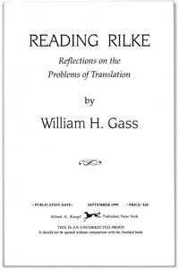 image of Reading Rilke: Reflections on the Problems of Translation.