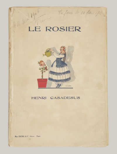 Paris: Max Eschig & Cie. , 1925. Large octavo. Original publisher's ivory wrappers printed in blue w...