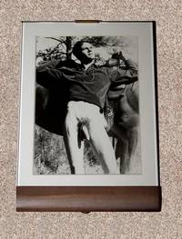 "MALE NUDE: ""YOUNG EQUESTRIAN WITH HORSE"" BLACK-AND-WHITE PHOTOGRAPH"