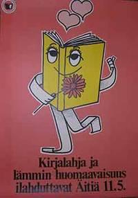 Kirjalahja ja lammin huomaavaisuus ilahduttavat Aitia. (Poster) by Esko Liettyä - from Alan Wofsy Fine Arts and Biblio.com