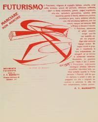 Letterhead for 'Movimento Futurista.'