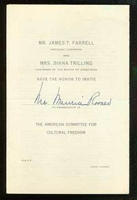 New York: American Committee for Cultural Freedom, 1955. Softcover. Pamphlet with the front page rea...