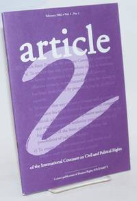 Article 2 of the International Covenant on Civil and Political Rights.  Volume 1, Number 1, February 2002