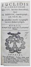 View Image 1 of 3 for Euclidis Elementorum Libri XV. breviter demonstrati, Opera Is. Barrow, . . . et prioribus mendis typ... Inventory #SS13405