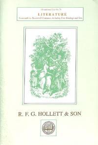 Occasional List 74/october 1994 : Literature. Sixteenth to Twentieth  Centuries, Including Fine...