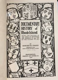 Documentary History of Rhode Island