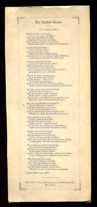 New York: Endicott & Co. Lithographers, 1870. Unbound. Fine. Edition unknown. Small broadside. Appro...